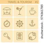 travel  vacation  tourism...   Shutterstock .eps vector #574361785