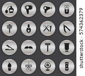 set of 16 editable coiffeur...