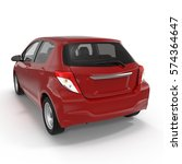 generic hatchback car on white. ... | Shutterstock . vector #574364647