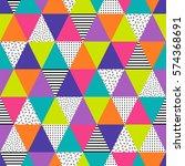neon colors geometric seamless...   Shutterstock .eps vector #574368691