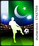 pakistan flag with soccer... | Shutterstock .eps vector #57437554