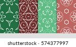 set of decorative geometric...   Shutterstock .eps vector #574377997