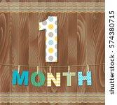 card 1 month   Shutterstock . vector #574380715