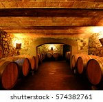 wine cellar in tuscany  italy | Shutterstock . vector #574382761
