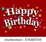 birthday greeting card | Shutterstock . vector #574385704
