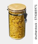 Small photo of macaroni inside a hermetic crystal jar