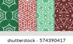 set of decorative geometric...   Shutterstock .eps vector #574390417
