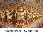 Thai style molding art - stock photo