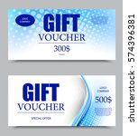 gift company voucher template... | Shutterstock .eps vector #574396381