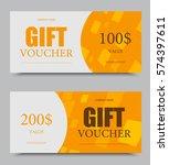 gift company voucher template... | Shutterstock .eps vector #574397611