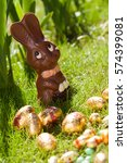 Eggs And Chocolate Rabbit In...