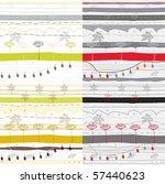 seamless plants pattern | Shutterstock .eps vector #57440623