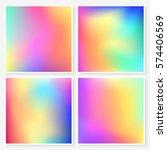 holographic backgrounds set.... | Shutterstock .eps vector #574406569