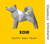 2018 happy new year greeting... | Shutterstock .eps vector #574409521