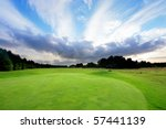 golf course with amazing clouds ... | Shutterstock . vector #57441139