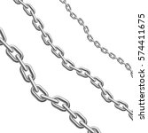 metal chains. different size... | Shutterstock .eps vector #574411675