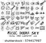 music doodles line vector...   Shutterstock .eps vector #574417987