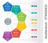 business presentation concept... | Shutterstock .eps vector #574420621