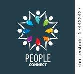 vector logo people | Shutterstock .eps vector #574422427