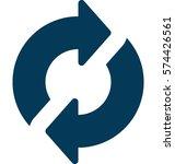 refresh vector icon   Shutterstock .eps vector #574426561
