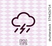 weather icon. flat style for... | Shutterstock .eps vector #574426714