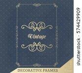 vector calligraphic design... | Shutterstock .eps vector #574429909