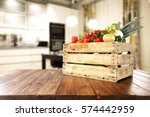 vegetables on table in kitchen  | Shutterstock . vector #574442959