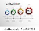 vector infographics timeline... | Shutterstock .eps vector #574443994