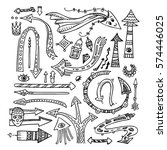 hand drawn vector objects.... | Shutterstock .eps vector #574446025