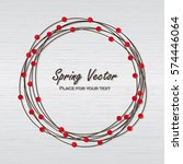 vector spring wreath with red... | Shutterstock .eps vector #574446064