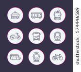 city transport line icons set ... | Shutterstock .eps vector #574446589