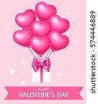 valentine's day love background ... | Shutterstock .eps vector #574446889