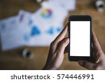 Smart Phone With Blank Space I...