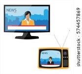 vector illustration electronic... | Shutterstock .eps vector #574457869