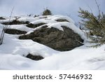 Snow Rocks In High Mountains ...