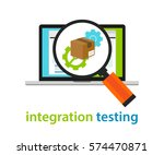 integration testing software... | Shutterstock .eps vector #574470871