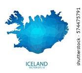 iceland map   blue geometric... | Shutterstock .eps vector #574475791