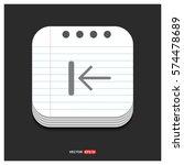 rewind icon | Shutterstock .eps vector #574478689