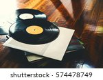 old vinyl record and a... | Shutterstock . vector #574478749