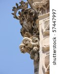 Sicilian Baroque sculptures in Scicli - stock photo
