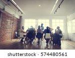 people meeting seminar office... | Shutterstock . vector #574480561