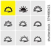sunrise icons | Shutterstock .eps vector #574480621