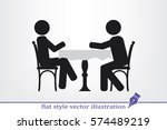people at the table  interior... | Shutterstock .eps vector #574489219