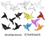 vector set of colorful paper...   Shutterstock .eps vector #574492645