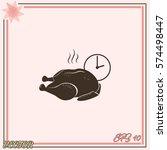chicken vector icon   Shutterstock .eps vector #574498447