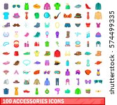 100 accessories icons set in... | Shutterstock .eps vector #574499335