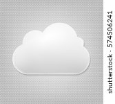cloud icon with grey background ... | Shutterstock .eps vector #574506241