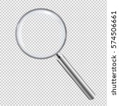 magnifying glass isolated with... | Shutterstock .eps vector #574506661