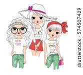 cute girl | Shutterstock .eps vector #574507429