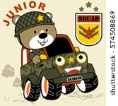 bear is a soldier on a military ... | Shutterstock .eps vector #574508869